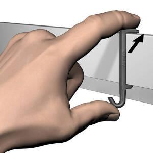 ARTITEQ Info Rail Clip Hanger